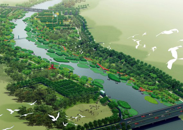 Tanghe River Park, Qinhuangdao, China