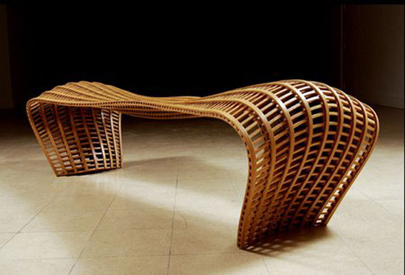 Muebles de roble Doblandos al Vapor por Matthias Pleissnig