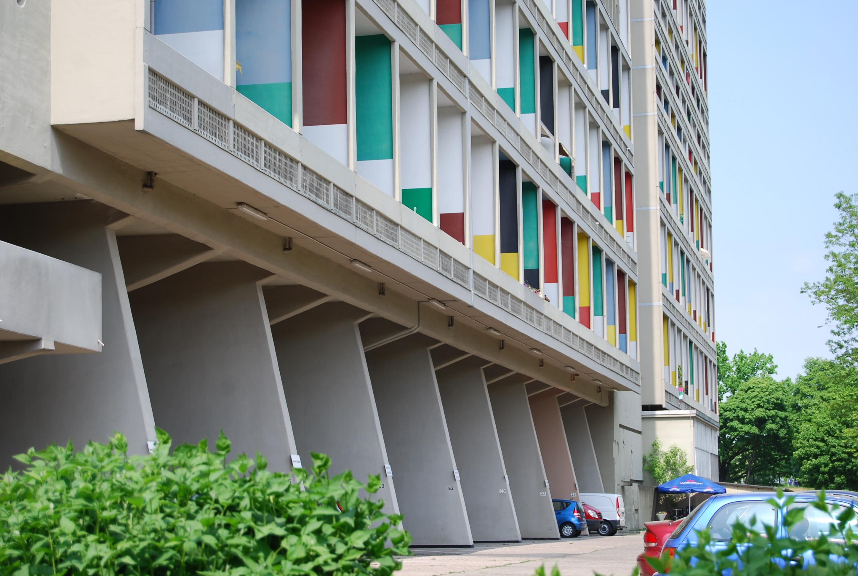 unidad habitacional de berl n le corbusier berlin alemania simbiosis news. Black Bedroom Furniture Sets. Home Design Ideas