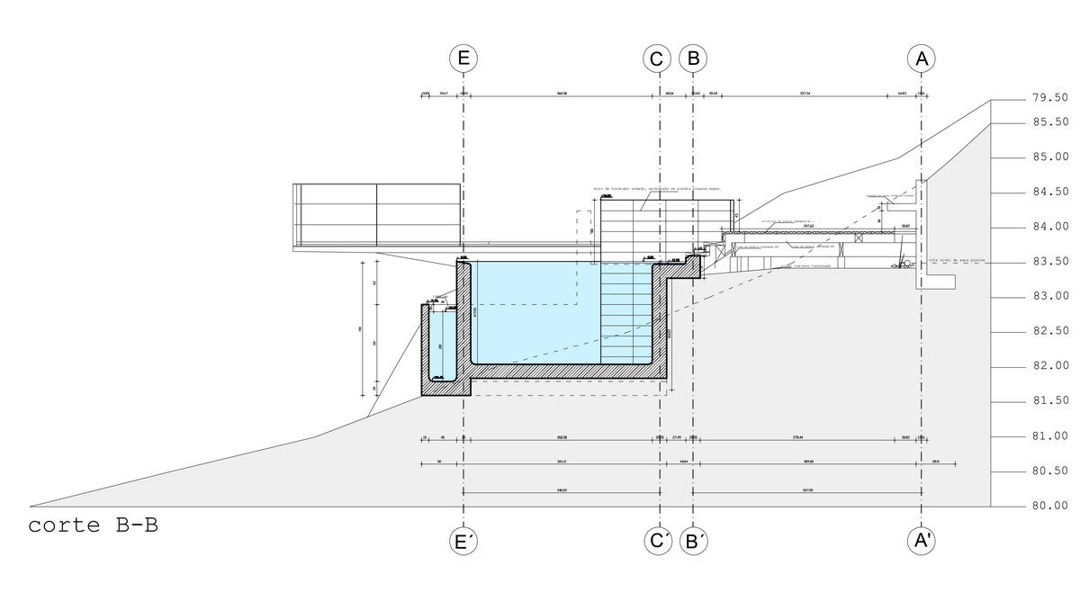 Piscina terraza tom s garc a de la huerta cristian for Planos de piscinas