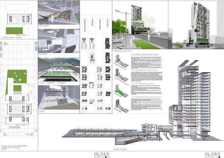 Ganador Concurso Internacional de Arquitectura CAF 2008 - Caracas