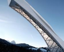 Nuevo Trampolin de salto Esqui Olimpico en Garmisch-Partenkirchen  terrain loenhart&mayr