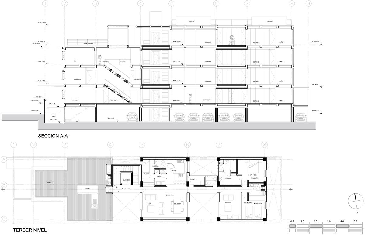 Edificio moliere 209 scap mexico simbiosis news for Niveles en planos arquitectonicos