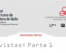 1/4 Entrevistas XVII BAQ 2010 (Bienal Panamericana de Arquitectura de Quito)