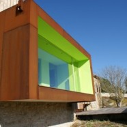 Spring in Pantone 375C, Mas Rodó Winery – SALA FERUSIC Architects – Spain