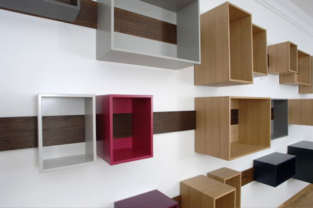 Sliding shelves by Lutz Hüning