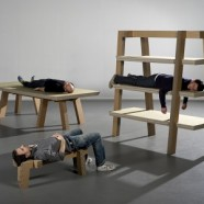Gruff-set cardboard furniture  by Arno Mathies – Uk