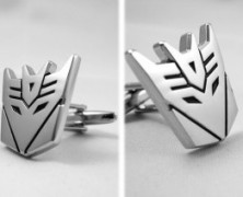 Transformers Cufflinks Decepticon Megatron Copper-Plated-Silver