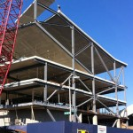 STEVEN HOLL ARCHITECTS' CAMPBELL SPORTS CENTER TOPS OUT