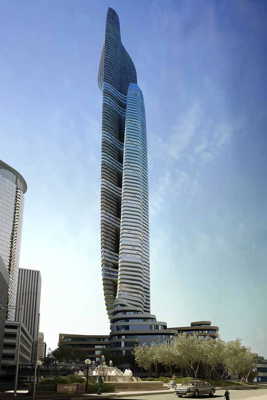 Father and son skyscraper iamz studio egypt for Modern architecture concept