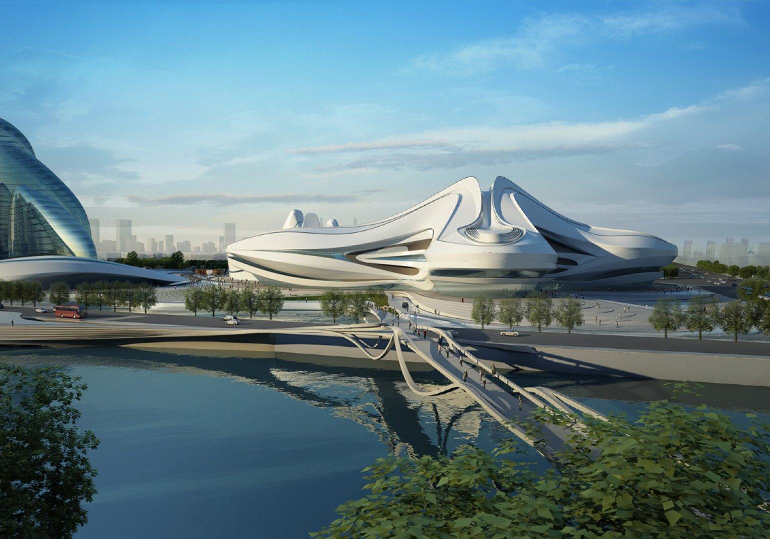 Modern Architecture Zaha Hadid changsha meixihu international culture center – zaha hadid – china