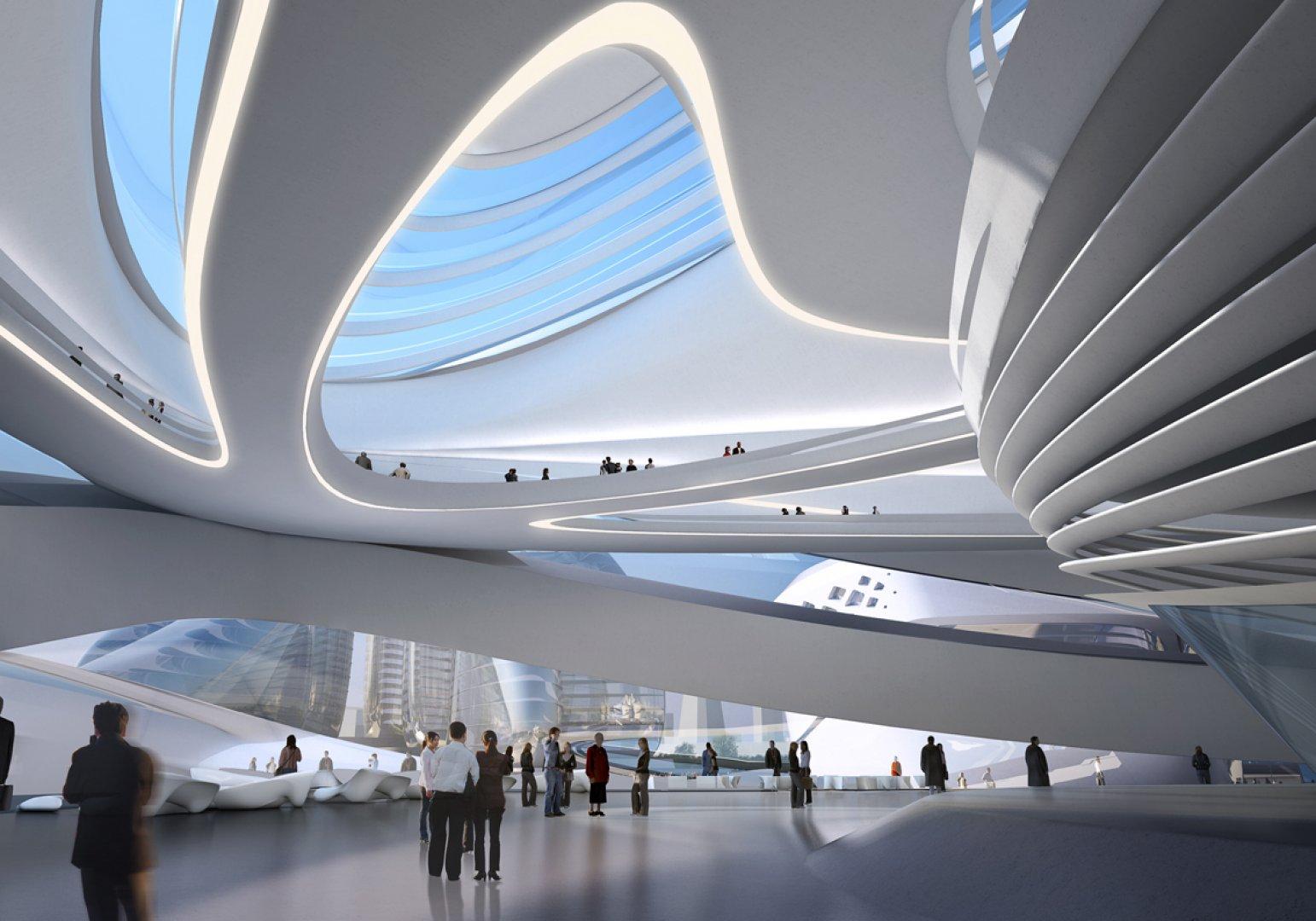 Changsha meixihu international culture center zaha hadid for Modern architecture characteristics