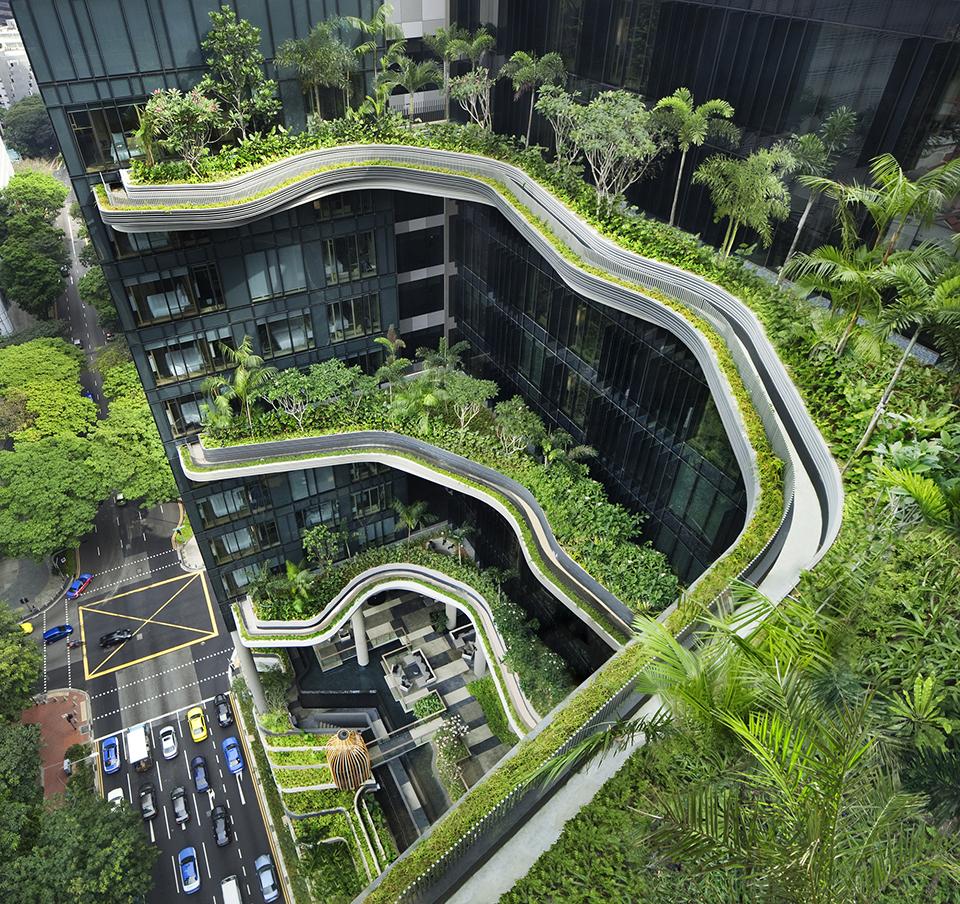 parkroyal on pickering hotel woha singapore simbiosis news. Black Bedroom Furniture Sets. Home Design Ideas